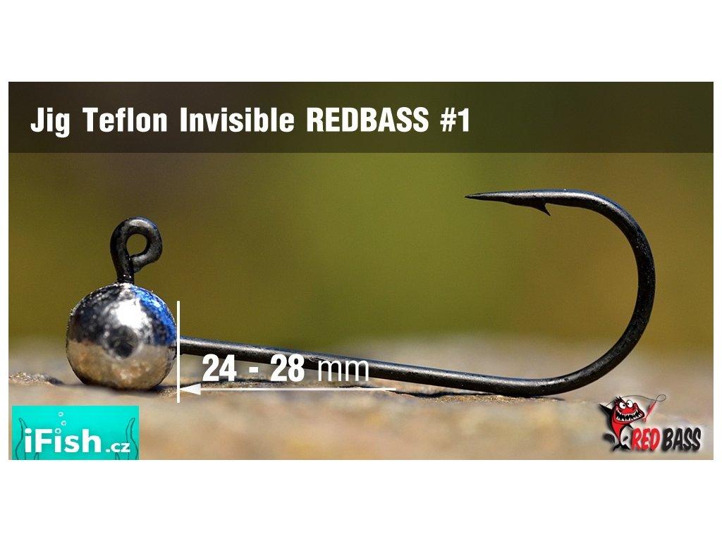 Redbass jigová hlavička Teflon Invisible vel. 1