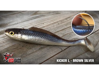 kicker l brown silver