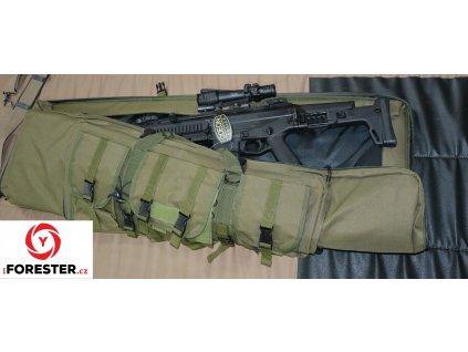 Pouzdro Tactical na dlouhou zbraň 127x25,5cm (zelená, černá)