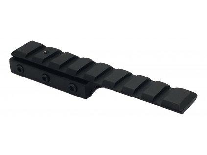 Jednodílná montážní Weaver / Picatiny lišta - 125 mm