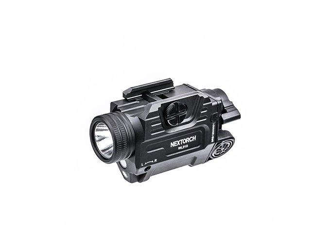 Taktická svítilna na zbraň NEXTORCH WL21G  Zelený laser - 650 Lumenů