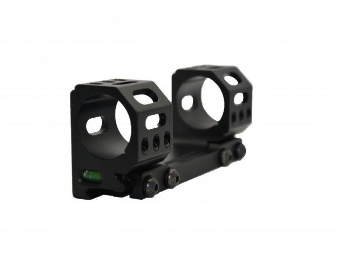 Jednodílná předsazená montáž s vodováhou - duralová odlehčená  - speciálně pro sport - 30 mm