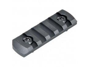 Picatinny lišta 5 slotů pro M-Lok systém - zaoblené okraje