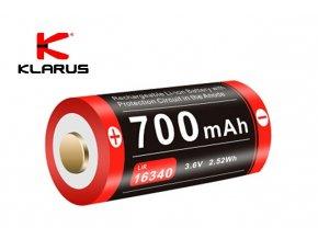 Dobíjecí lithium-iontová baterie Klarus 16GT-70UR - 700 mAh