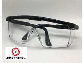 Ochranné střelecké brýle – Žluté, Čiré (modré obroučky, černé obroučky)