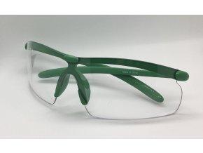 Střelecké brýle čiré zelené