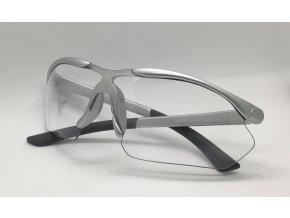 Střelecké brýle čiré stříbrné