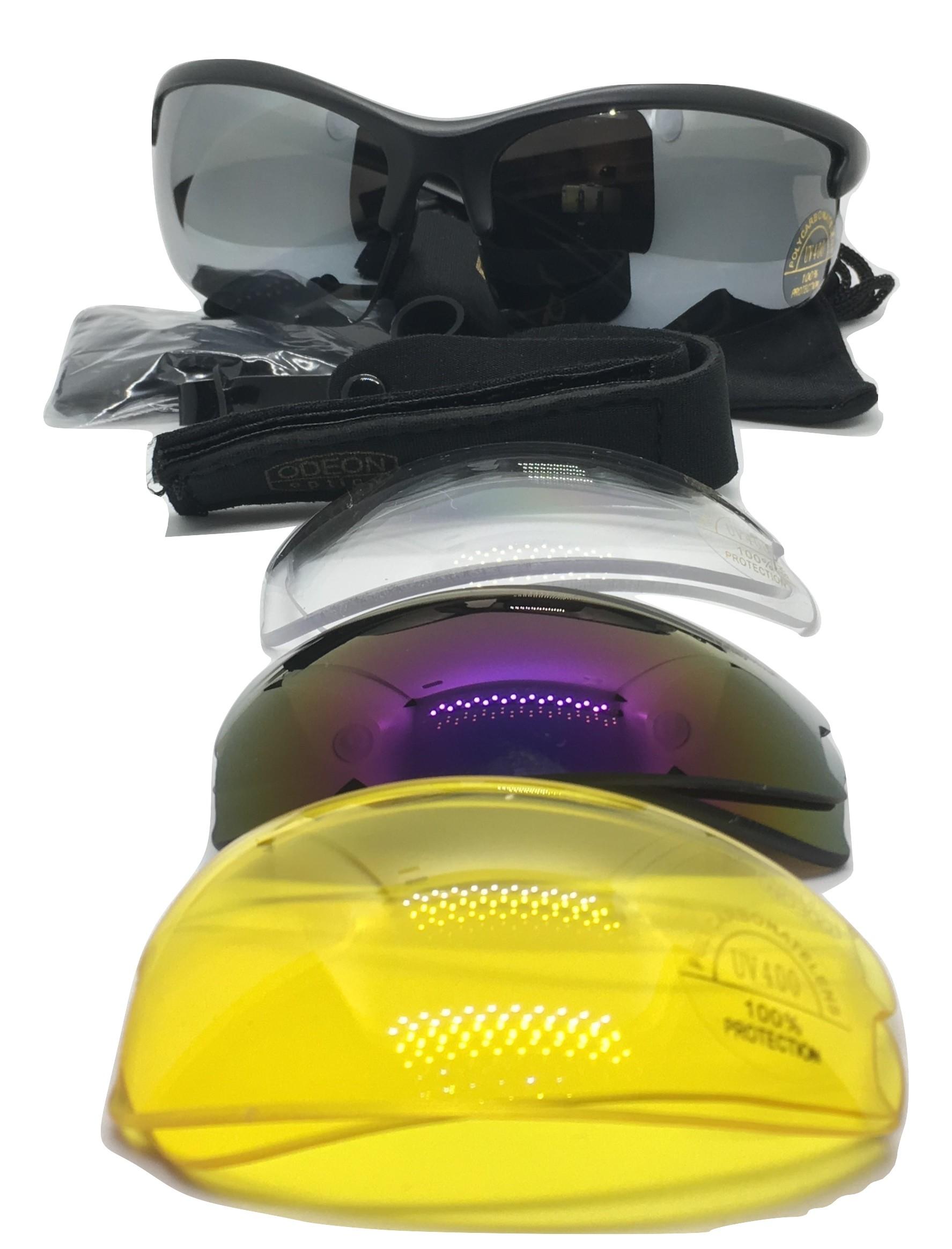 Střelecké sluneční brýle s výměnnými skly