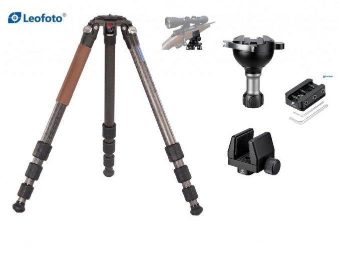 Leofoto sada Statív pre strelca, Adaptér na rail, Držiak na zbraň a Guľová hlavica