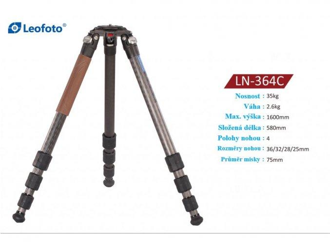 Profesionálny karbónový strelecký statív Leofoto LN-364C