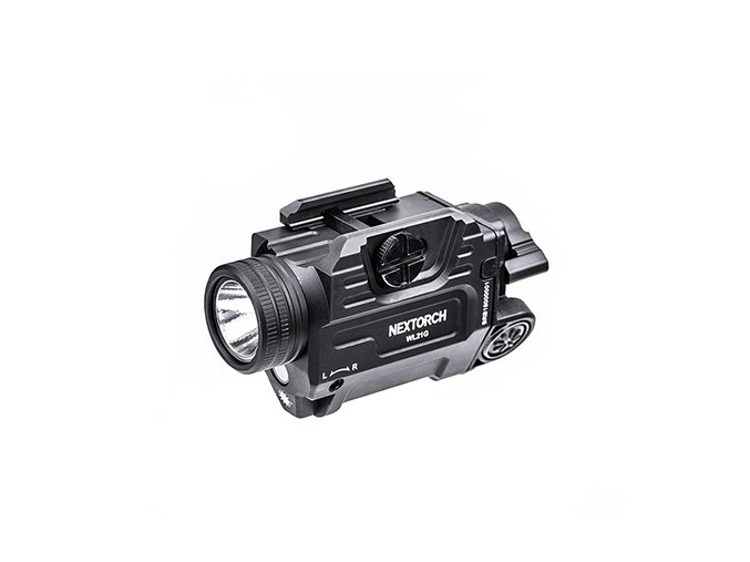 Taktické svietidlo na zbraň NexTorch WL21G Zelený laser - 650 lumenov