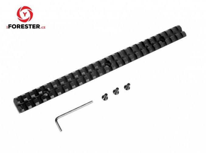 Duralová Picatinny lišta 25 slotov - dĺžka 256 mm