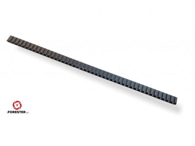 Duralová weaver lišta 45 slotov - dĺžka 45 cm