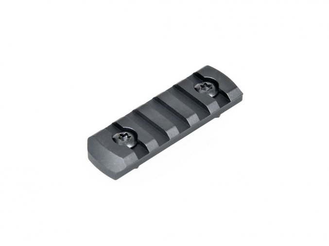Picatinny lišta 5 slotov pre M-Lok systém - zaoblené okraje
