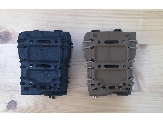 Samosvorná sumka - pro plastové zásobníky ( M4; .223; 5.56 ) - bezpečnostní upínání (Barva Písková)
