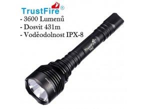 Taktické svietidlo TrustFire T62 - 3600 Lumenov