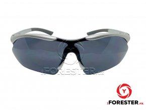 Strelecké balistické slnečné okuliare silver - čierna skla