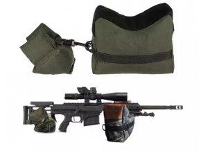 Oporné streleckej vaky - armádny zelená
