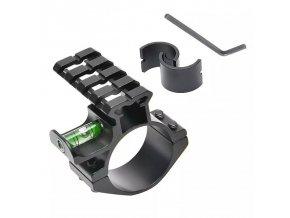 Vodováha - libela na puškohľad bočný 30/25,4mm Offset s RIS lištou