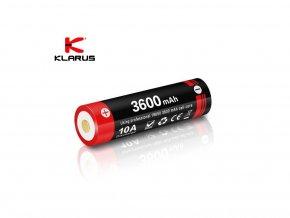 Micro-USB dobíjacia Li-iónová batéria 18650 Klarus 18GT-36UR