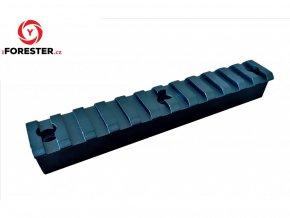 Zvýšená Picatinny lišta 12 slotov - 125 mm