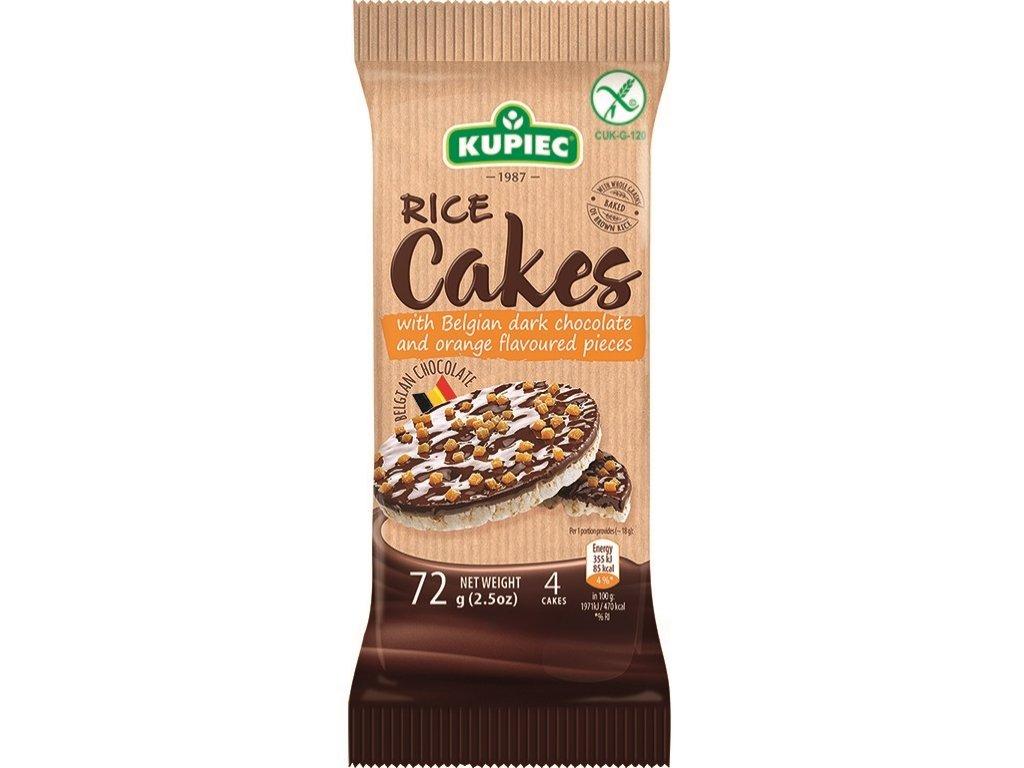 Rice cakes with dark chocolate and orange 72g