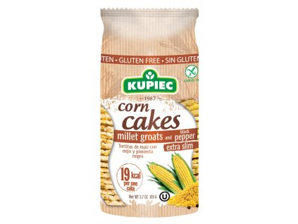 Corn cakes with pepper 105g (new version)