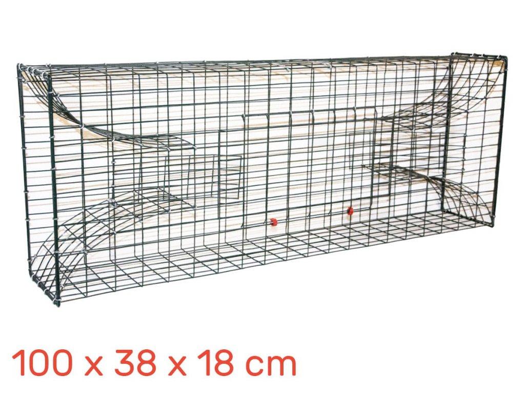 Lapač pastí na ondatry, vodní krysy 100 x 38 x 18 cm