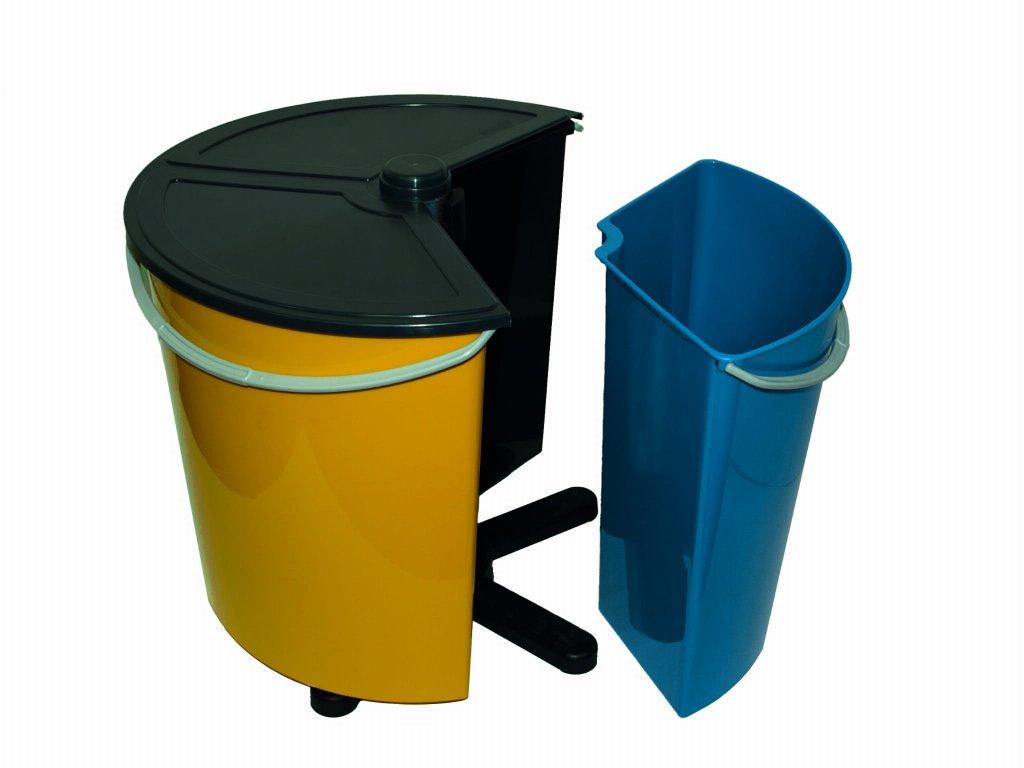 Rotační koš na tříděný odpad,