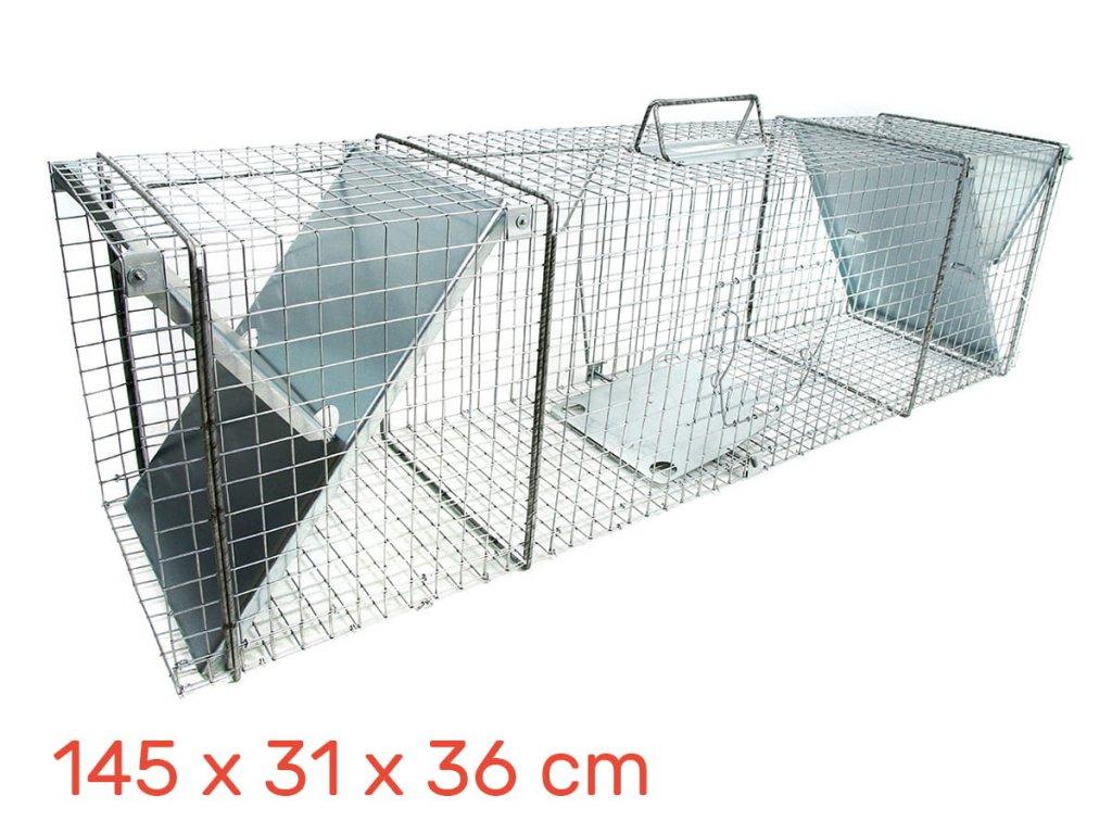 Lapač pastí pro vydry 145 x 31 x 36 cm