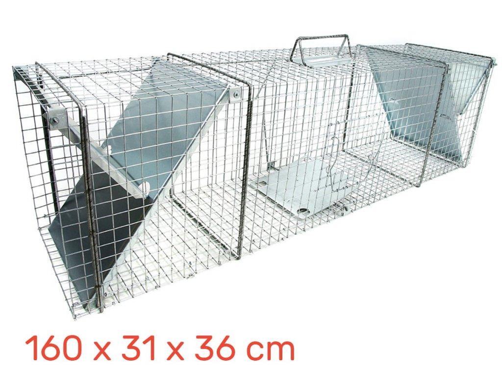 Lapač pastí pro lišky, vydry 160 x 31 x 36 cm
