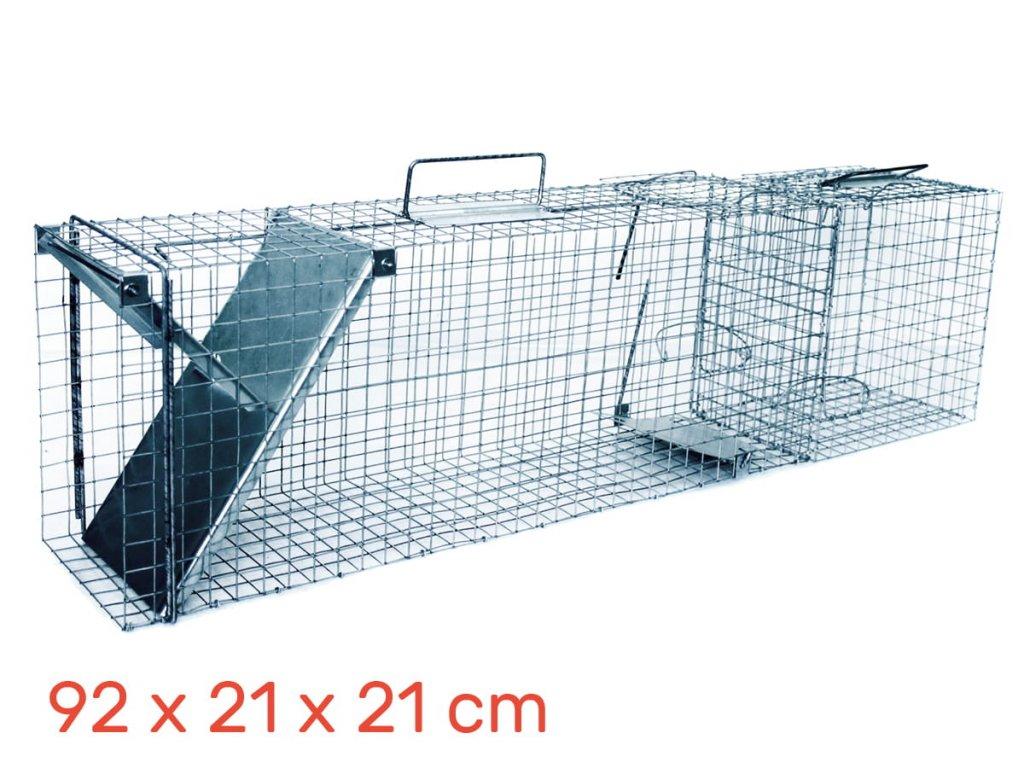 Lapač pastí  na kuna 92 x 21 x 21 + komorou na živou návnadu
