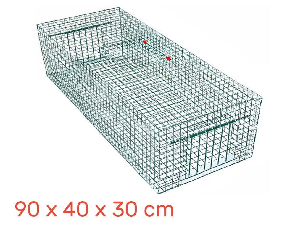 Lapač pastí pro ptáky 90x40x30 cm
