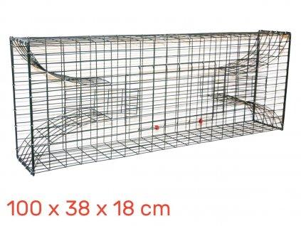 Past na ondatry, vodní krysy 100 x 38 x 18 cm