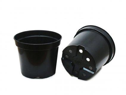 Květník kulatý 25 cm - 7,5 L černá