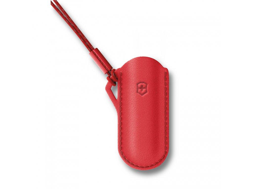 Kožené pouzdro pro kapesní nůž Classic Style Icon červené
