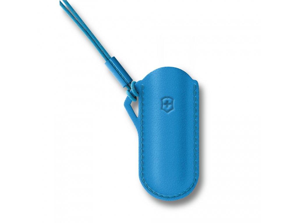 Kožené pouzdro pro kapesní nůž Classic Summer Rain modré