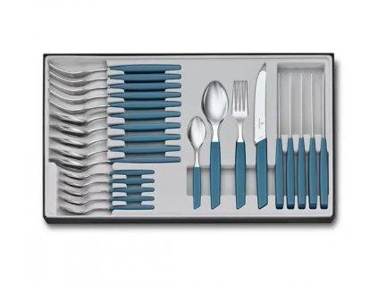 Sada příborů Swiss Modern 24 ks modrá