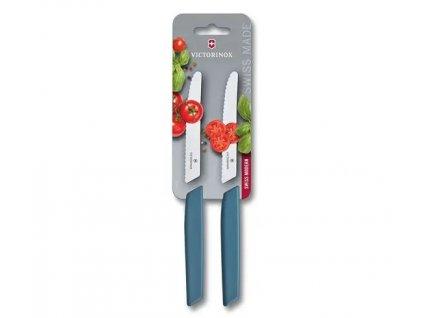 Sada 2 ks nožů na rajčata Swiss Modern 11 cm modrá  VICTORINOX