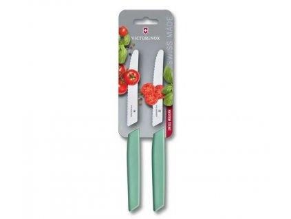 Sada 2 ks nožů na rajčata Swiss Modern 11 cm zelená  VICTORINOX