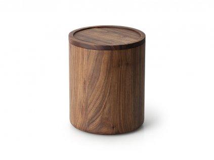 Dóza kulatá z ořechového dřeva vysoká