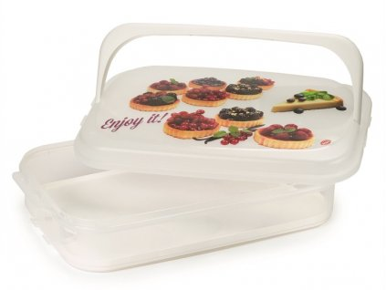 Box na muffiny a koláče bílý 7l  Snips