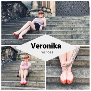 Veronika v červených Freshoes