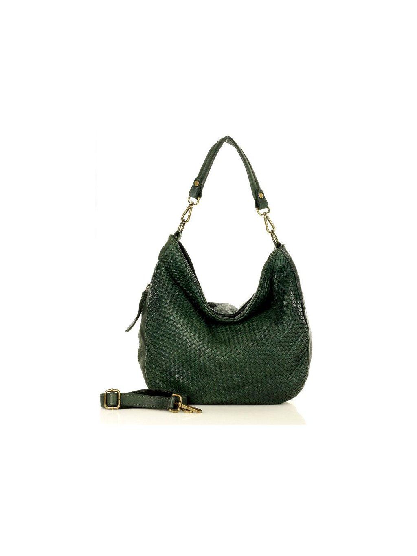 32865 kozena kabelka pres rameno mazzini m3m8 tmave zelena