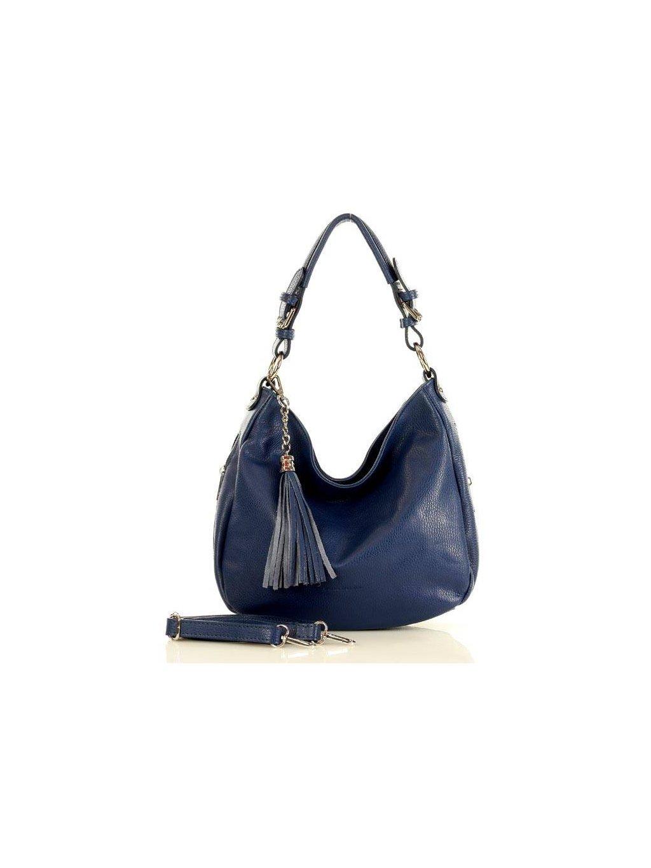 32871 kozena kabelka pres rameno mazzini m18m4 modra