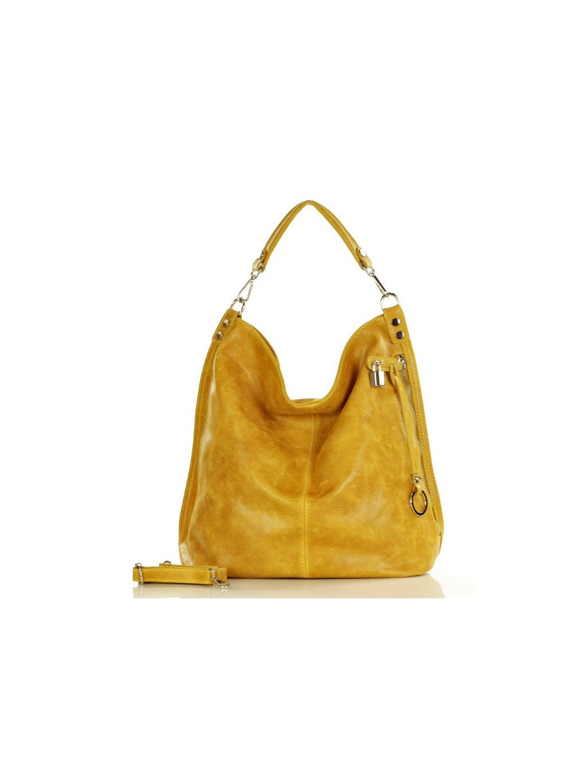 32901 kozena kabelka pres rameno mazzini m92m zluta