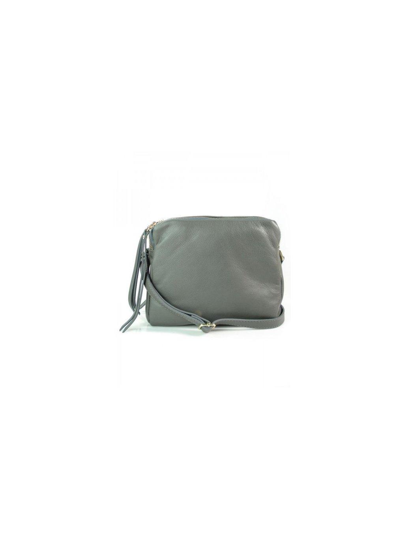 Kožená crossbody kabelka Vera Pelle VP333BS šedá