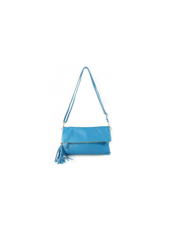 Kožená kabelka přes rameno Vera Pelle LP111světle modrá