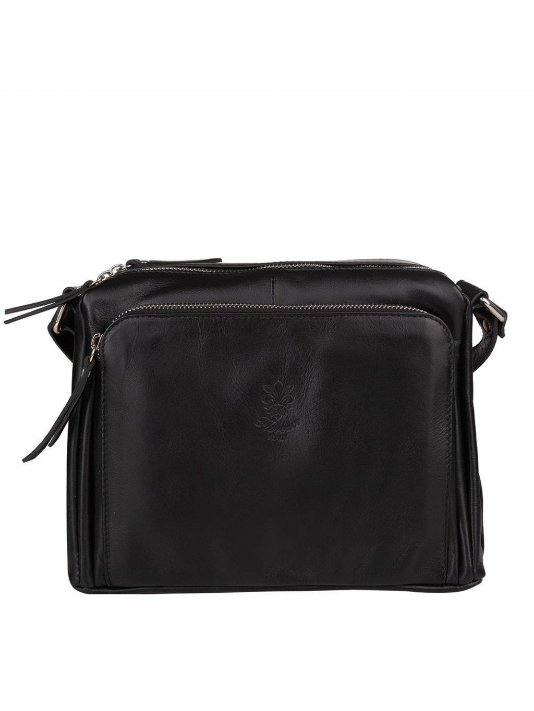Kožená crossbody kabelka Florence VP3X1G černá (1)