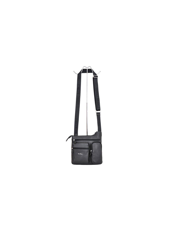 Pánská kožená taška přes rameno Pierre Cardin 6151 ALEX01 černá